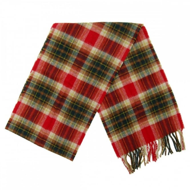 Barbour Duxford Plaid Scarf Red Green