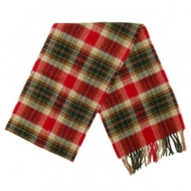 Duxford Plaid Scarf Red Green