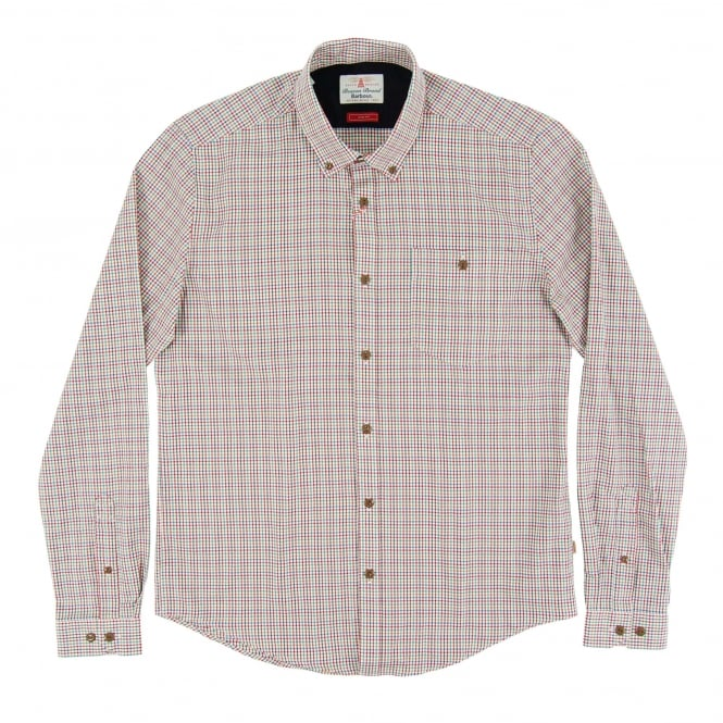 Barbour Elwin Check Shirt Crimson