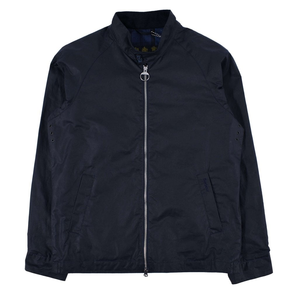 Barbour Ender Wax Harrington Jacket Royal Navy Mens
