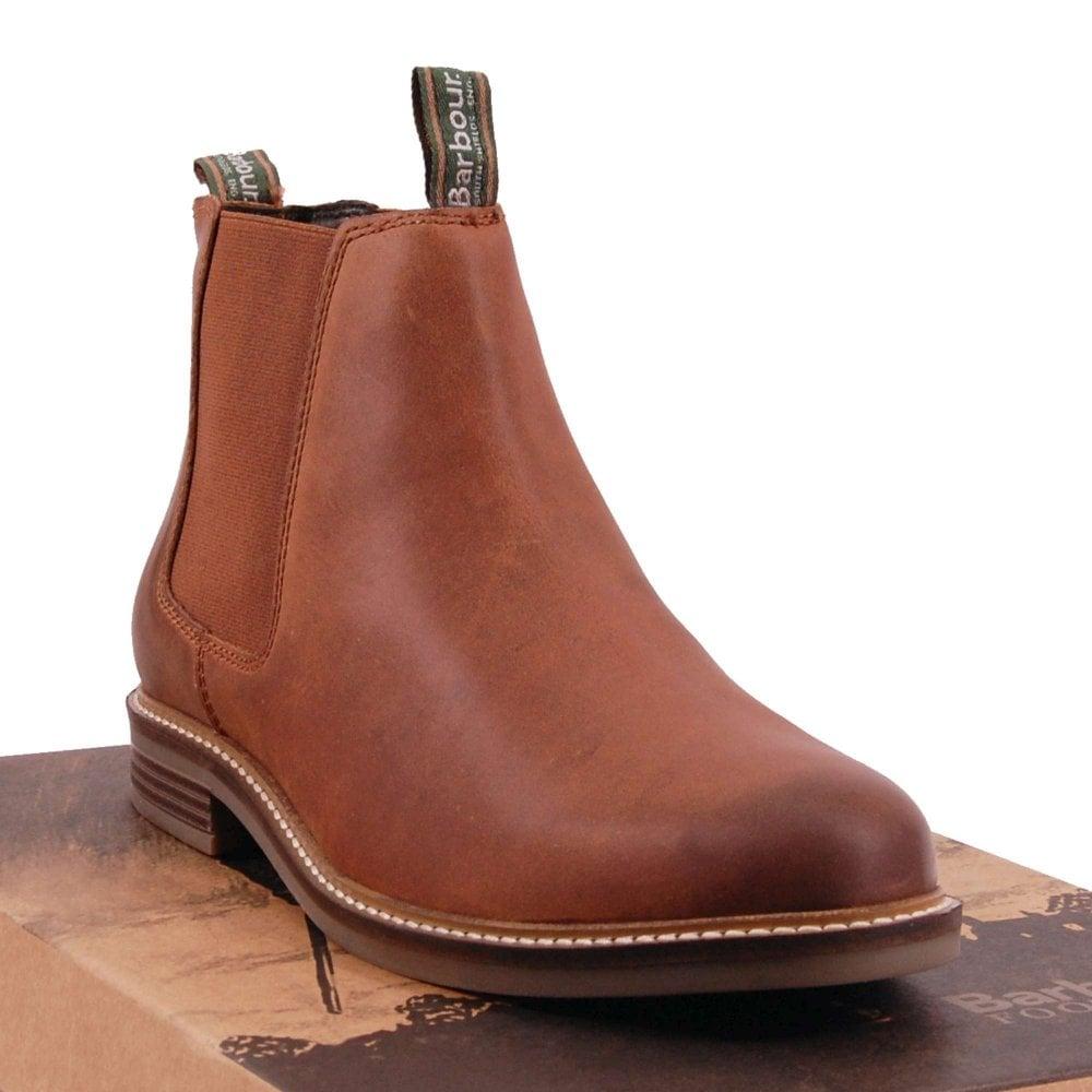 Farsley Chelsea Boots Dark Tan - Mens