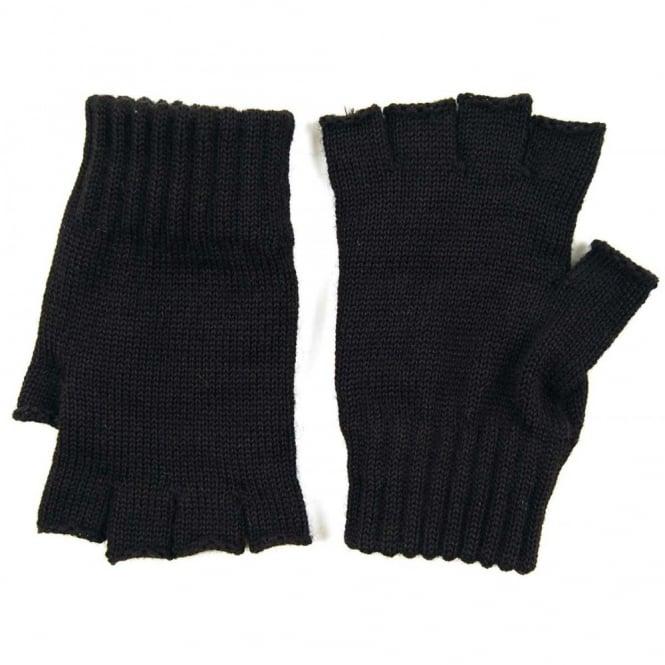 0010344c7cd9d Barbour Fingerless Gloves Black - Mens Clothing from Attic Clothing UK