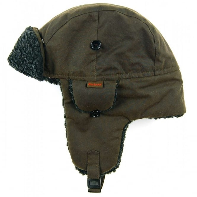 02162e588e5f Barbour Fleece Lined Hunter Hat Olive - Mens Clothing from Attic ...
