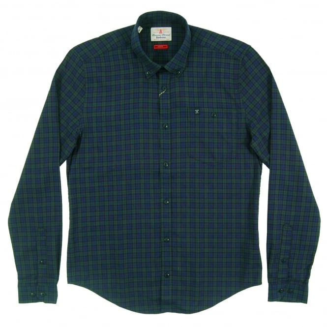 Barbour Fletcher Check Shirt Navy