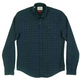 Fletcher Check Shirt Navy