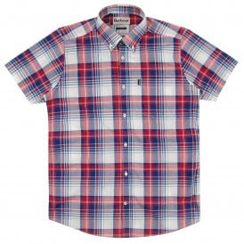 Gerald SS Check Shirt Red