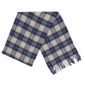 Gowan Check Scarf Blue Grey