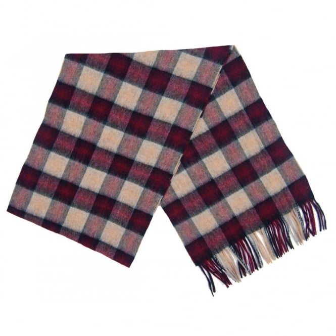 Barbour Gowan Check Scarf Bordeaux