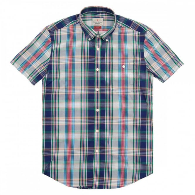 Barbour Harold Madras SS Shirt Navy
