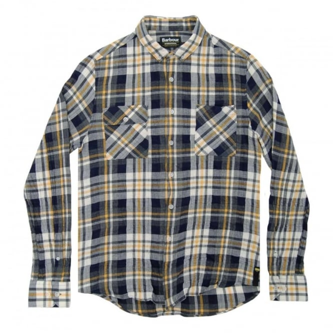 Barbour International Harrison Check Shirt Yellow
