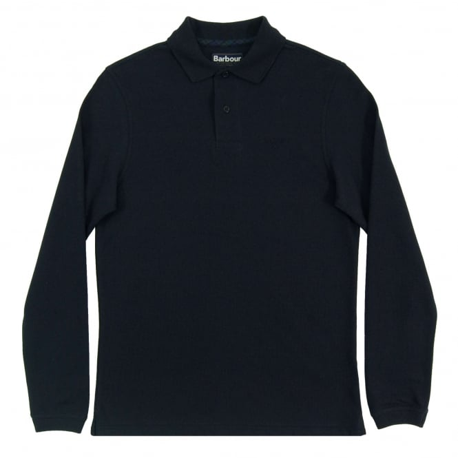 Barbour Highland Trim LS Polo Navy