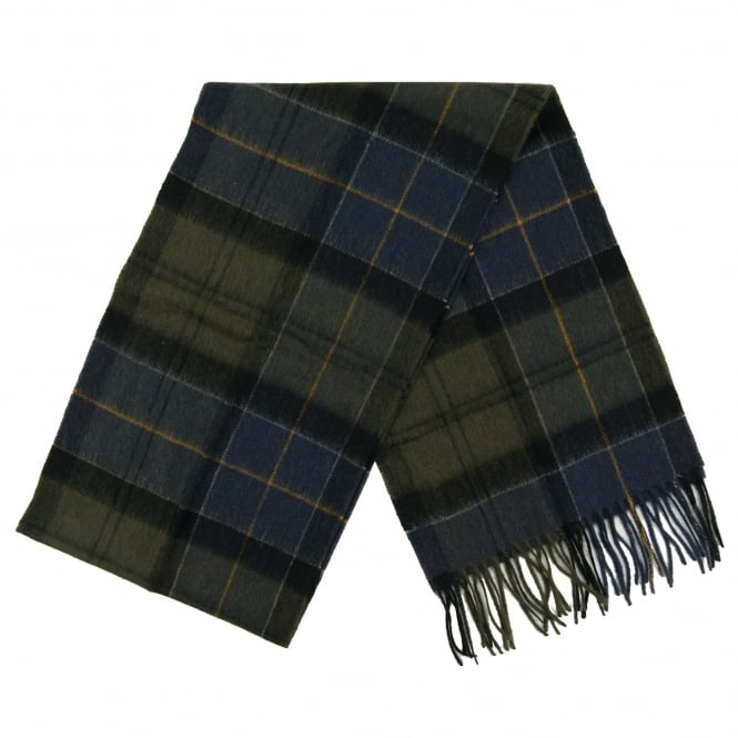 Barbour Holden Tartan Scarf Green Navy