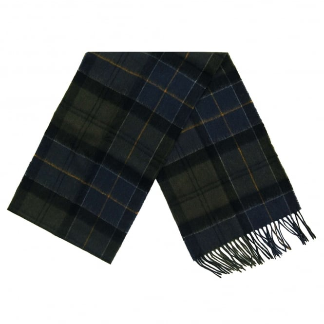 Barbour Holden Tartan Scarf Grey Navy
