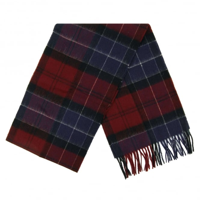 Barbour Holden Tartan Scarf Port Navy