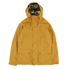 Hooded Bedale Jacket Yellow