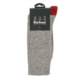 Houghton Sock Grey Red