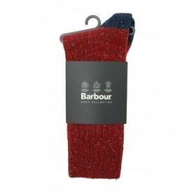 Houghton Socks Red Navy