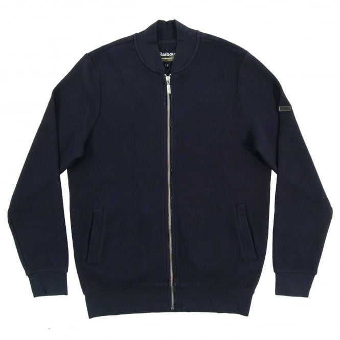 Barbour International Grip Zip Thru Sweat Navy