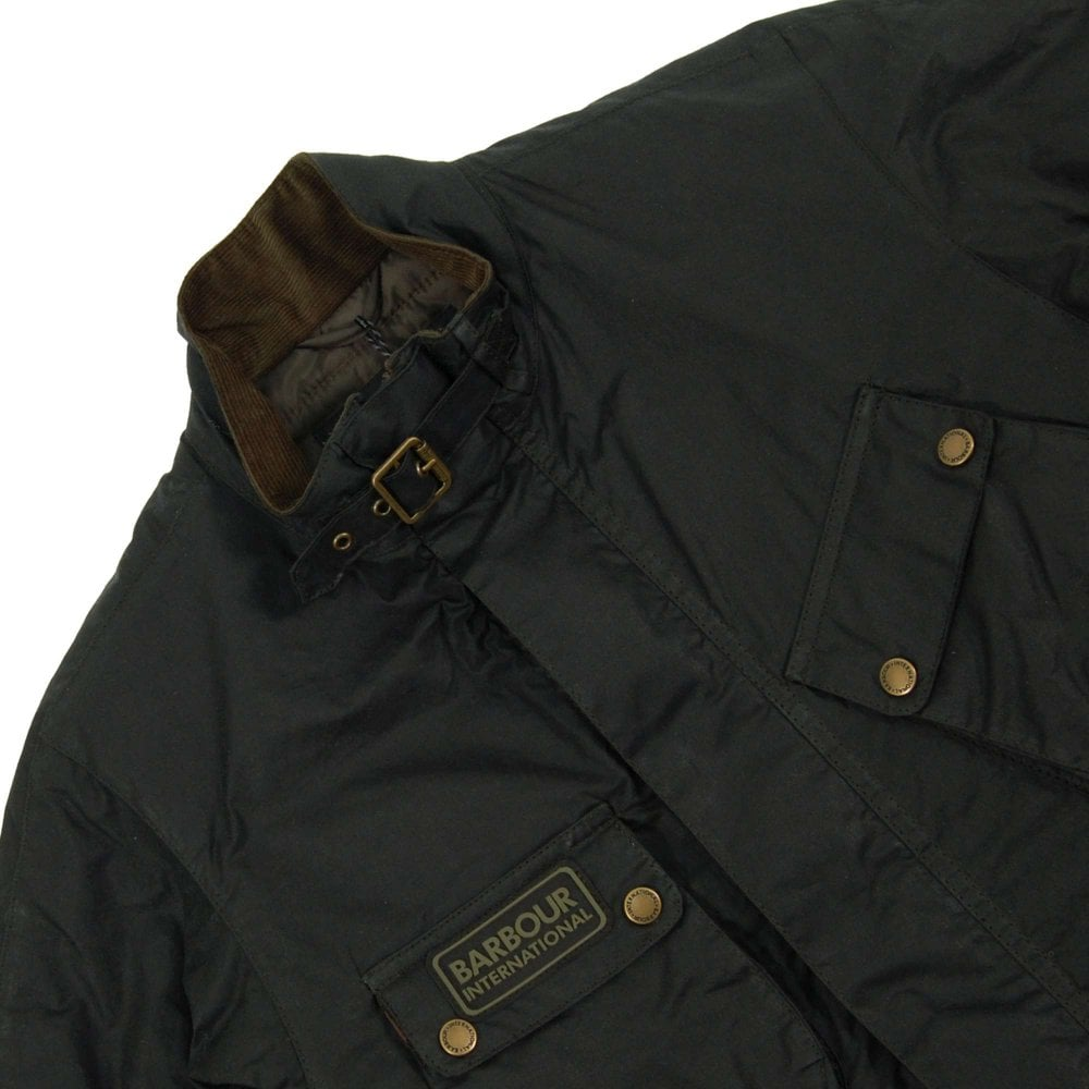 1d8c532f8c Barbour International Lever Wax Jacket Sage - Mens Clothing from ...