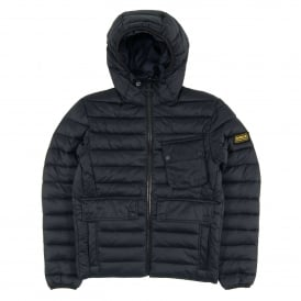 Ouston Hooded Quilt Jacket Navy