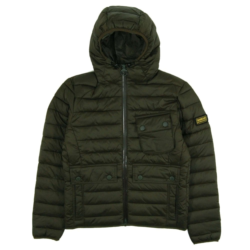349f7e4ae Barbour International Ouston Hooded Quilt Jacket Olive