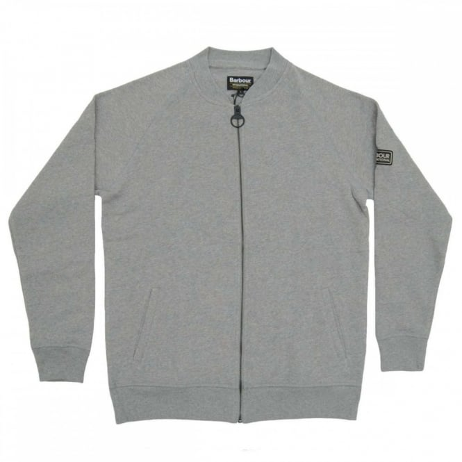 Barbour International International Sport Zip Through Sweat Grey Marl