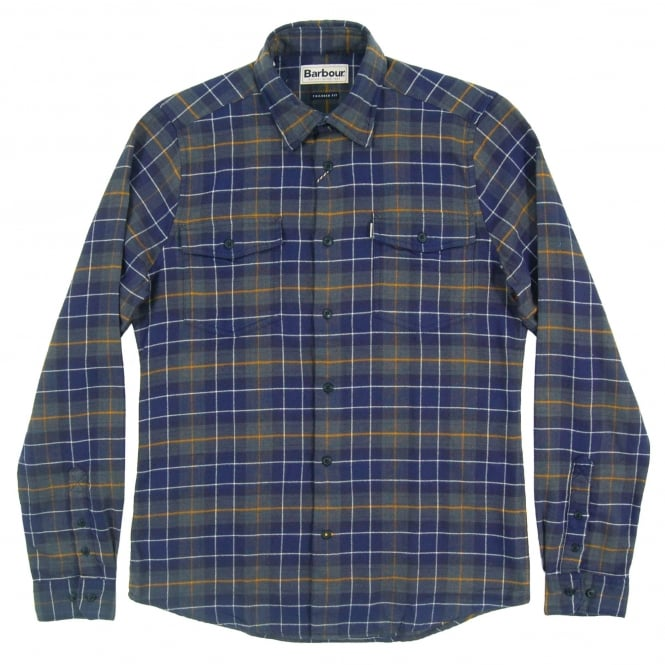 Barbour Keel Tailored Check Shirt Navy
