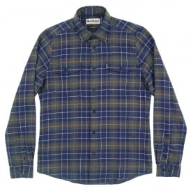 Keel Tailored Check Shirt Navy