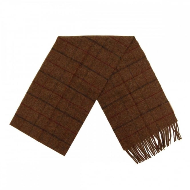 Barbour Kenneth Overcheck Scarf Brown