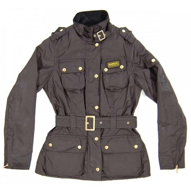 33707a444c84 Barbour International Ladies Summer Wax International Jacket Black ...