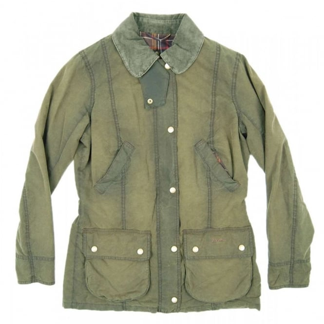 Barbour Ladies Vintage Beadnell Jacket Olive