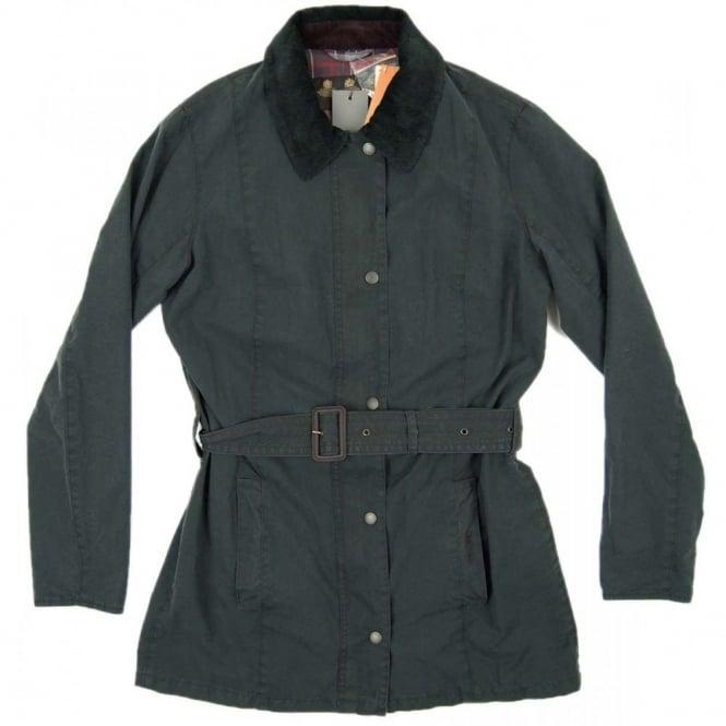 Barbour Ladies Vintage Belsay Jacket Black Womens