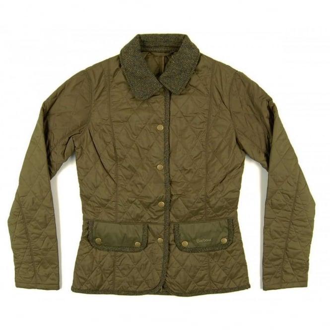 Barbour Ladies Vintage Tweed Quilt Jacket Olive Womens