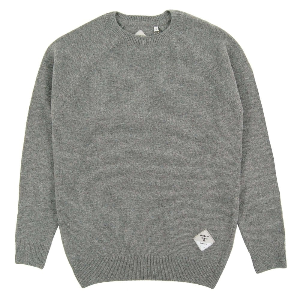 nice cheap on wholesale best place Barbour Beacon Lambswool Crew Jumper Grey Marl