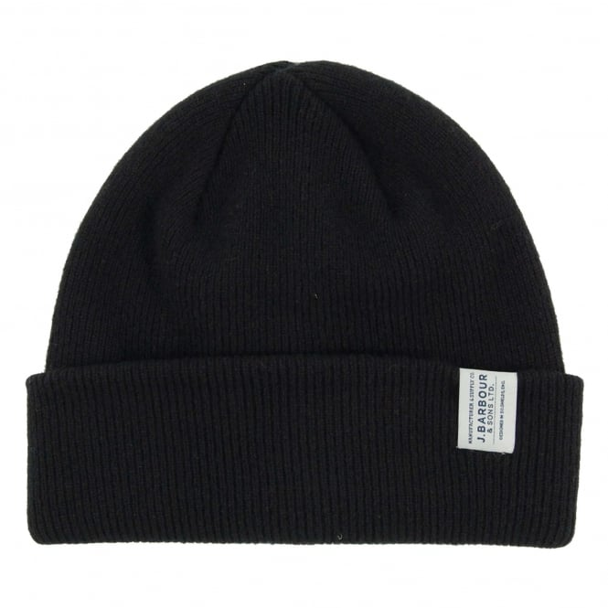 Barbour Lambswool Watch Cap Black
