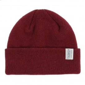 Lambswool Watch Cap Burgundy