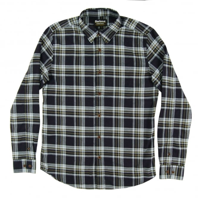 Barbour International Lane Check Shirt Mid Olive
