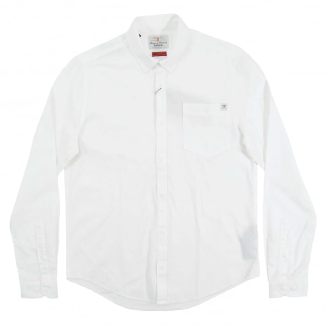 Barbour Lang Oxford Shirt White