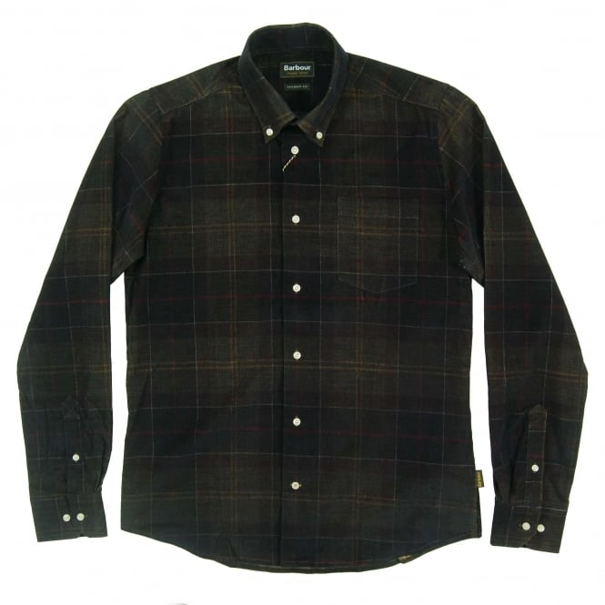 Barbour Lawerence Tailored Check Cord Shirt Classic Tartan