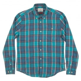 Leith Check Shirt Aqua
