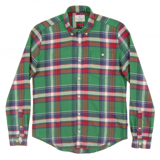 Barbour Leith Check Shirt Green