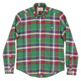 Leith Check Shirt Green