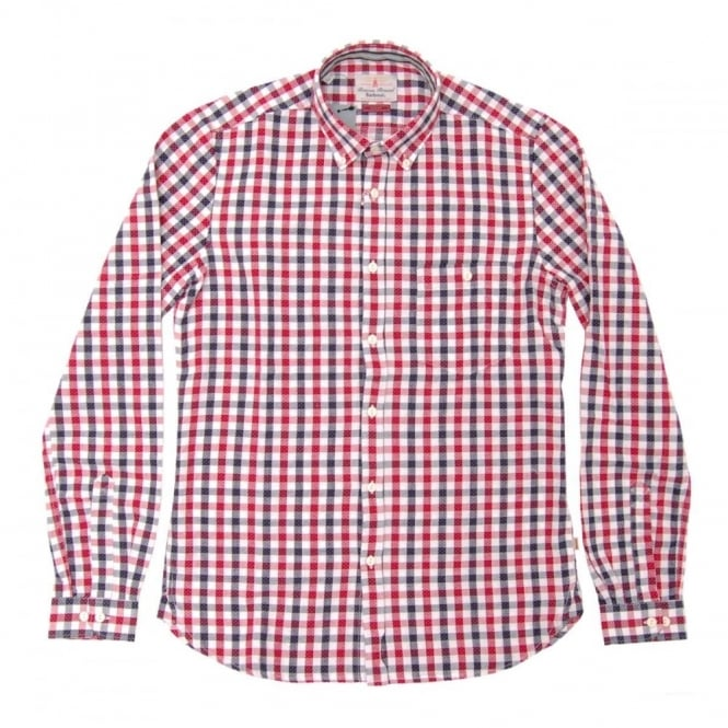 Barbour Liam Check Shirt Crimson