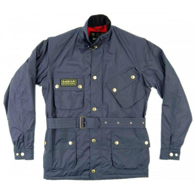 Lighting Jacket: Barbour International Lightning Jacket Navy