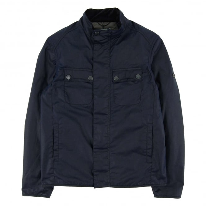 Barbour International Lock Wax Jacket Indigo