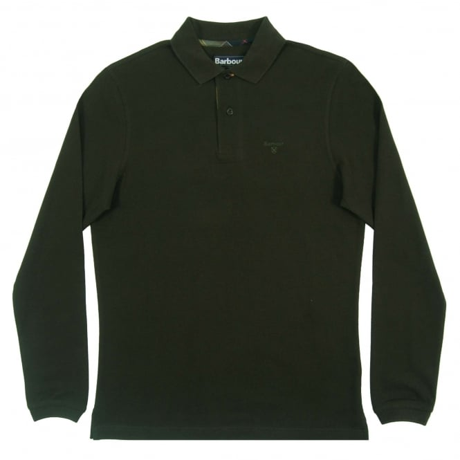 Barbour LS Sport Polo Forest