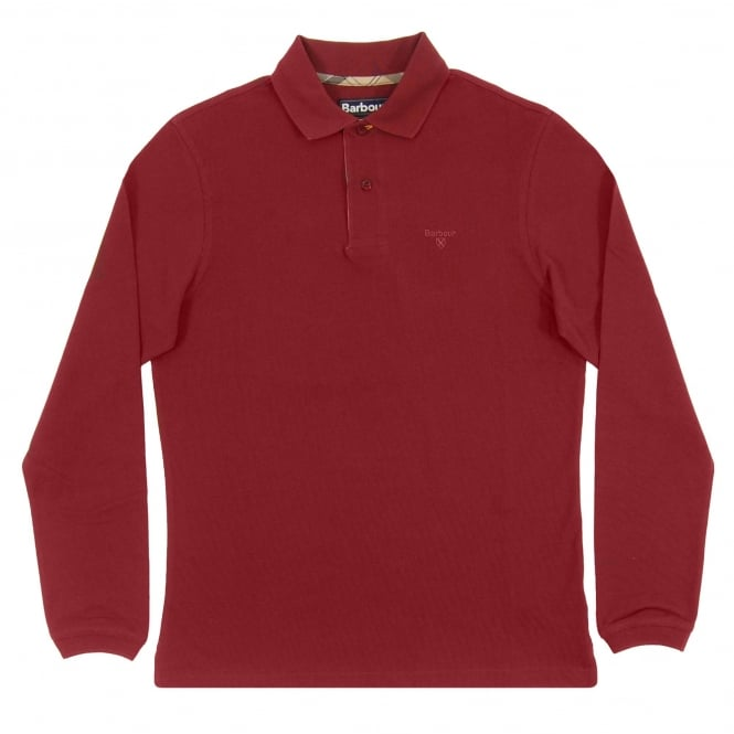 Barbour LS Sport Polo Ruby