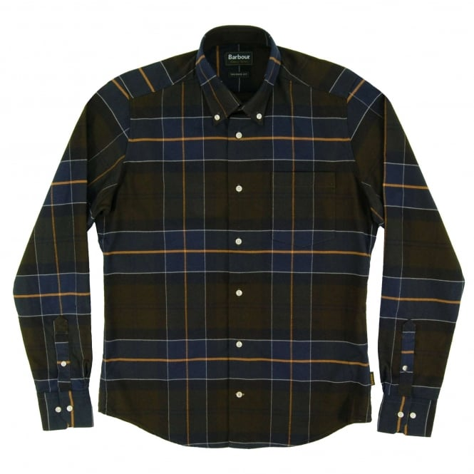 Barbour Lustleigh Tailored Check Shirt Forest