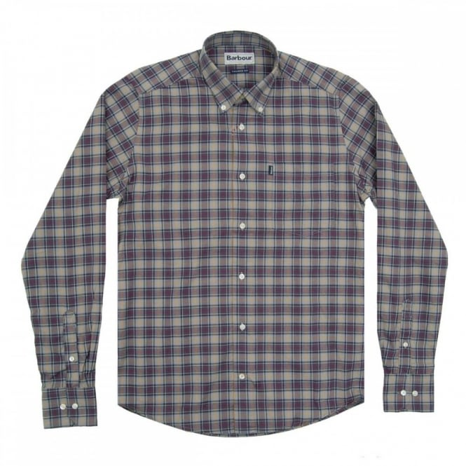 Barbour Malcolm Tailored Check Shirt Modern Tartan