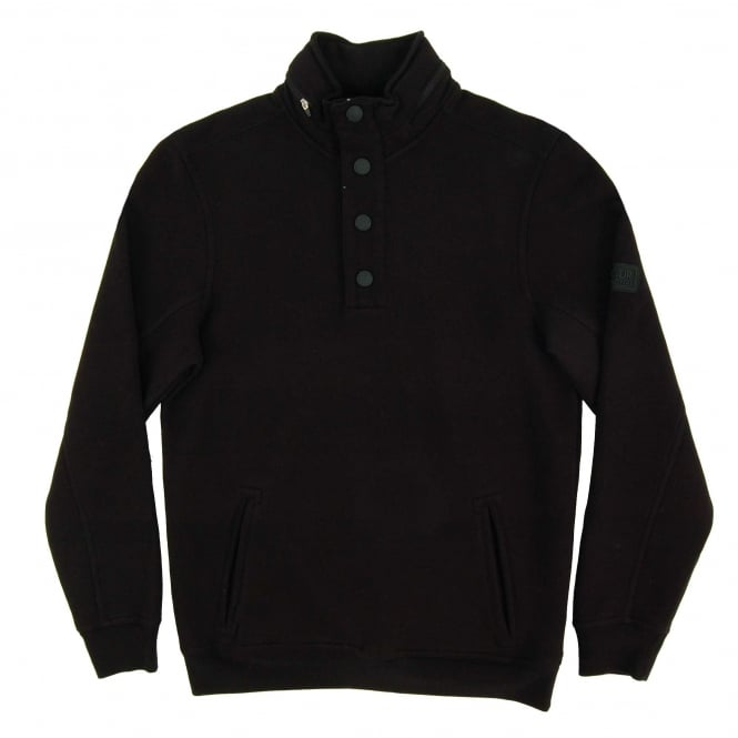 Barbour International Medial Half Button Sweat Black